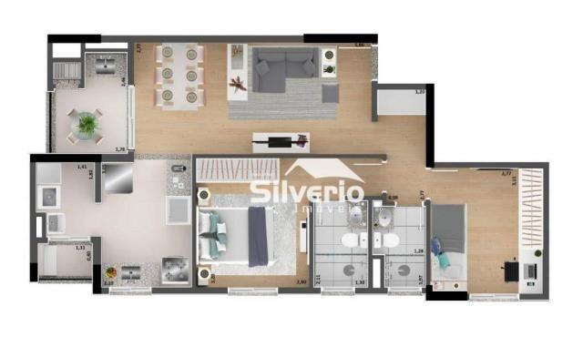 Apartamento com 2 dormitórios à venda, 69 m² por R$ 322.000,00 - Jardim Vale do Sol - São  - Foto 4