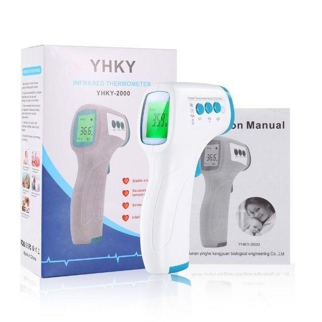 Termômetro Digital De Testa Portátil Infravermelho Lcd Yhky<br><br>