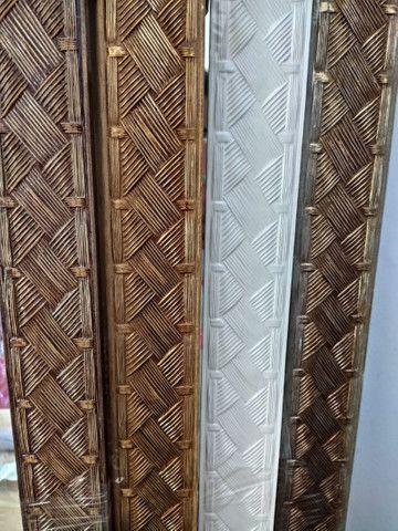 ESPELHO GRANDE ( Com Molduras em Madeira ) De parede, a pronta entrega