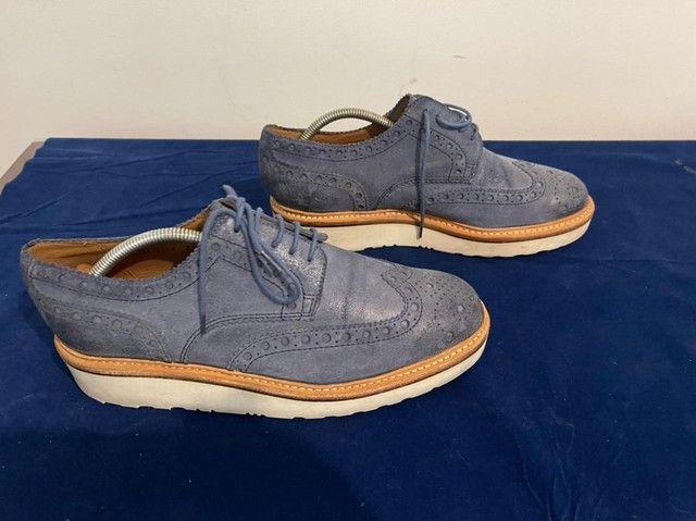 Sapatos ingleses, azul marinho, Grenson, linha esportiva, solas de borracha.  - Foto 3