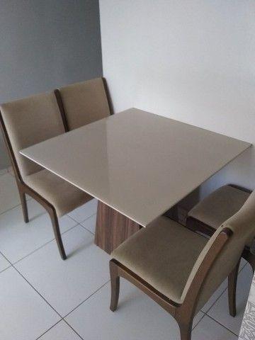 Mesa de vidro 4 cadeiras Top