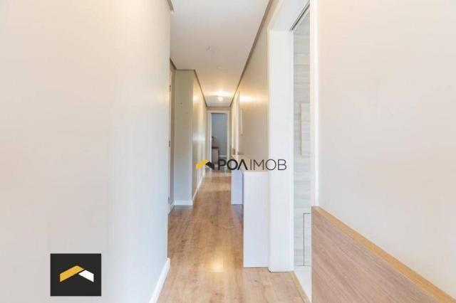 Apartamento com 3 dormitórios para alugar, 96 m² por R$ 3.600,00/mês - Petrópolis - Porto  - Foto 6