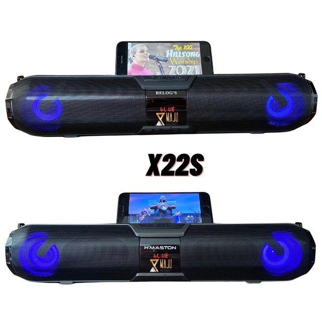 Caixa de Som Alto Falante Hmaston Relogs X22S 20w Portátil Bluetooth