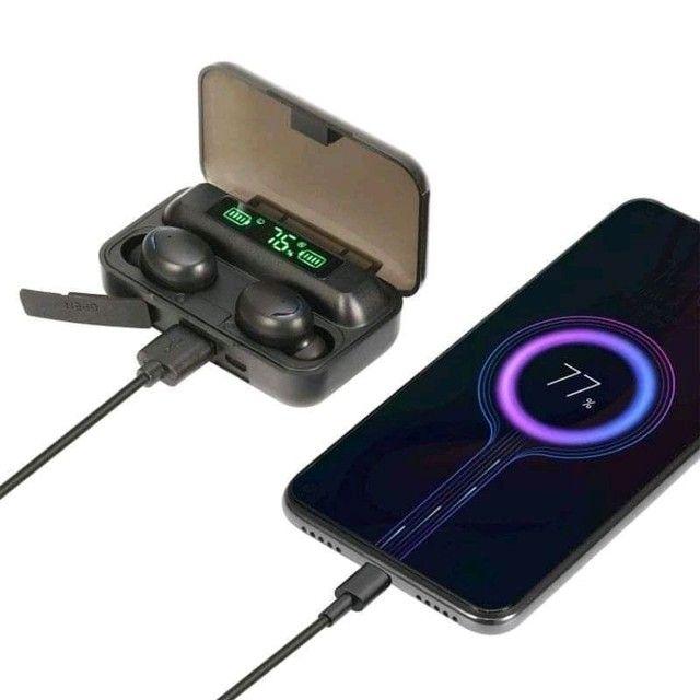 Fone de ouvido tws bth-f9-5, com microfone para chamadas, conexão Bluetooth,  - Foto 3