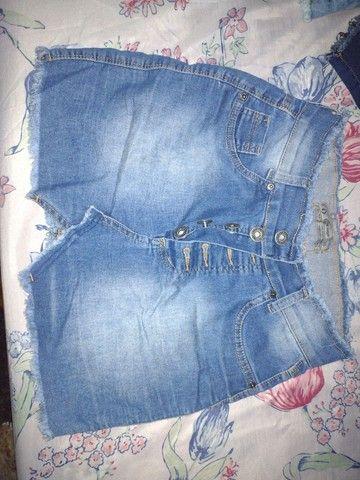 Vendo short jeans e saia jeans - Foto 2
