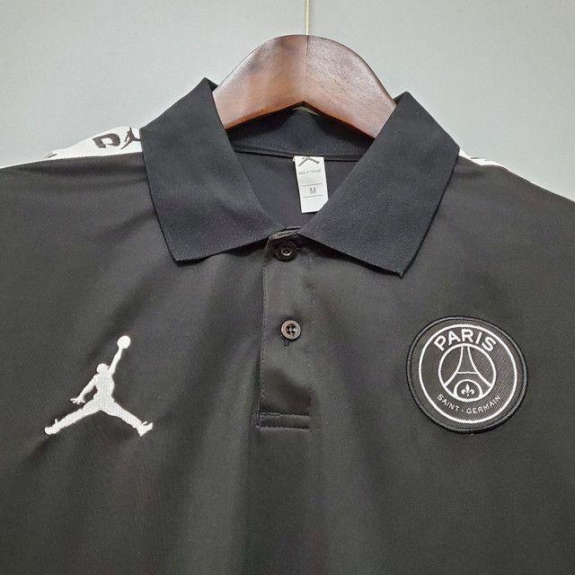 Camisa polo PSG 20/21 Preta, lançamento camiseta Psg