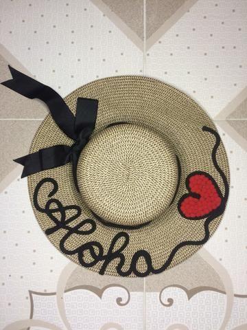 37af0d550c98f Chapéu de praia escrito  aloha  - Bijouterias