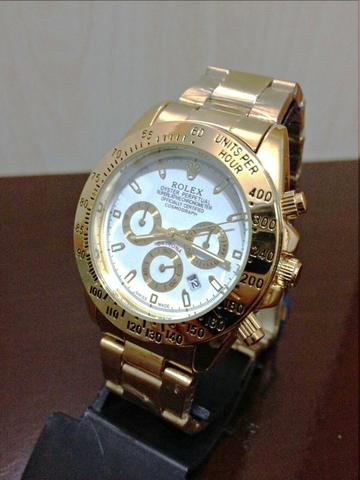257229ea691 Relógio Rolex Daytona Dourado fundo branco Unissex Novo na caixa ...
