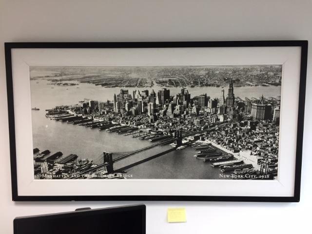 Quadro manhattan the brooklin bridge new york city