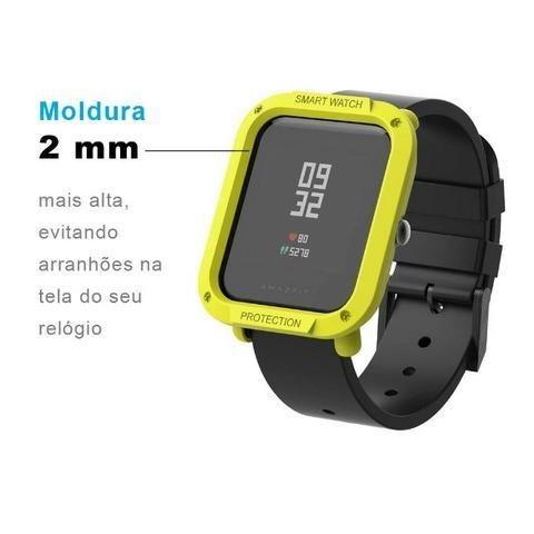 Capa Case Bumper Esportiva Para Proteção Xiaomi Huami Amazfit Bip Relógio Smartwatch - Foto 2