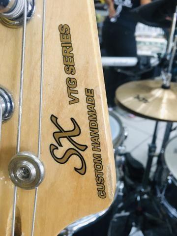 Baixo 4 Cordas Jazz Bass Series Sjb75 Sx Sunburst - Foto 4