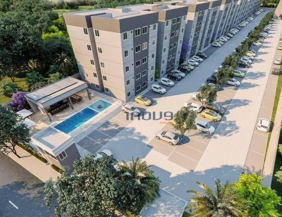Apartamento com 2 dormitórios à venda, 44 m² por R$ 124.990,00 - Centro - Caucaia/CE - Foto 4