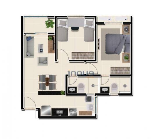 Reserva Natura - Apartamento com 2 dormitórios à venda, 55 m² por R$ 156.350 - Lagoa Redon - Foto 4