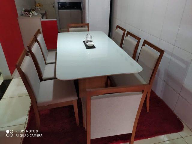 Mesa LUNA de jantar completa 8 lugares nova - Foto 3