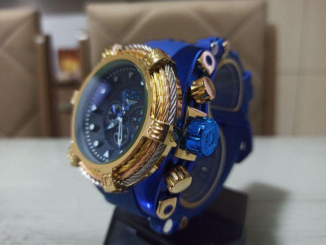 Relógio masculino invicta Zeus pulseira azul