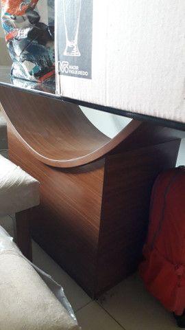 Mesa 6 cadeiras Maravilhosa Novinha Vidro - Foto 2