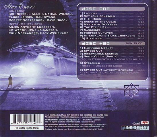 Arjen Anthony Lucassen's Star One - Space Metal 02 CDs - Foto 2
