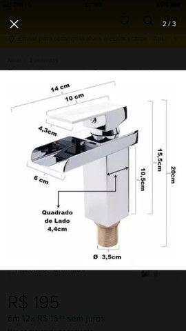 Torneira cascata monocomando para banheiro - Foto 2