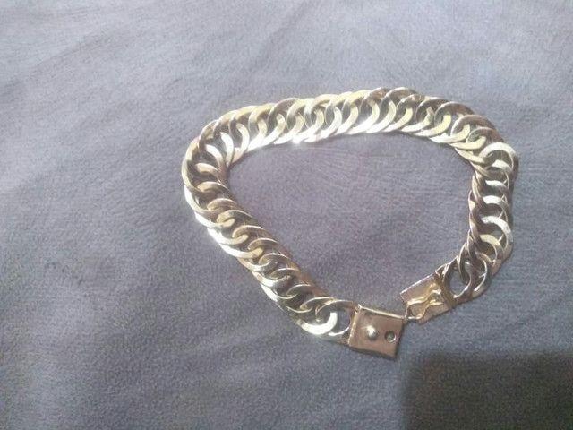 Cordão e pulseira banhadas  - Foto 2