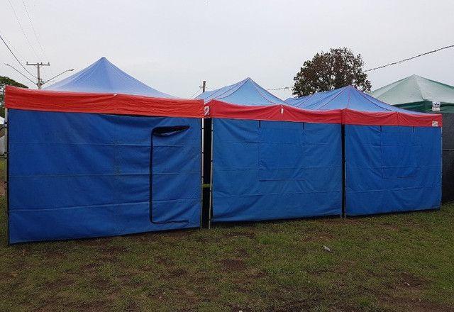 Lonas Coberturas e Laterais usadas Tendas Sanfonadas 1/1/2 e 2x2 e 3x3 e 4,50x3 e 6x3 - Foto 5