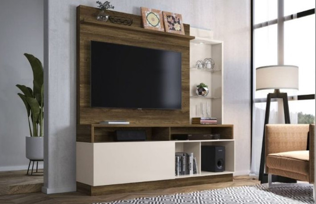 "Home Leblon MDF TV 60"" NOVO"