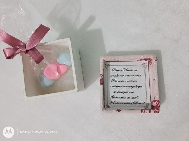 Caixa convite para padrinhos de Batizado/ lembrancinha - Foto 2