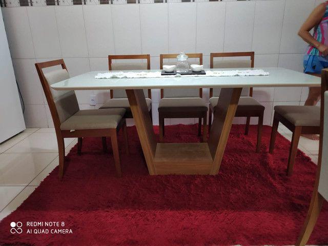 Mesa LUNA de jantar completa 8 lugares nova - Foto 5