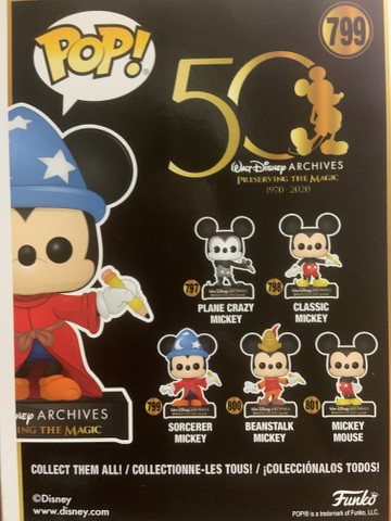 Funko Pop! Disney Archives 50 th: Sorcerer Mickey (Mickey Feiticeiro) #799 - Foto 6