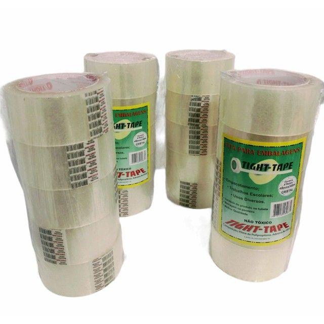 Fita Adesiva Transparente Tight Tape 48mmx100m - Cx 80 unidades - Foto 4