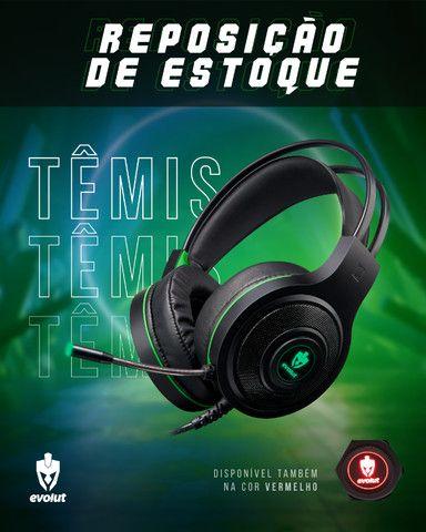 Fone De Ouvido Headset Evolut Gamer Têmis - Eg301RD