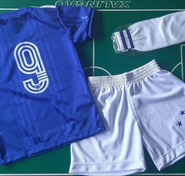 Uniforme completo do Cruzeiro infantil - Foto 2