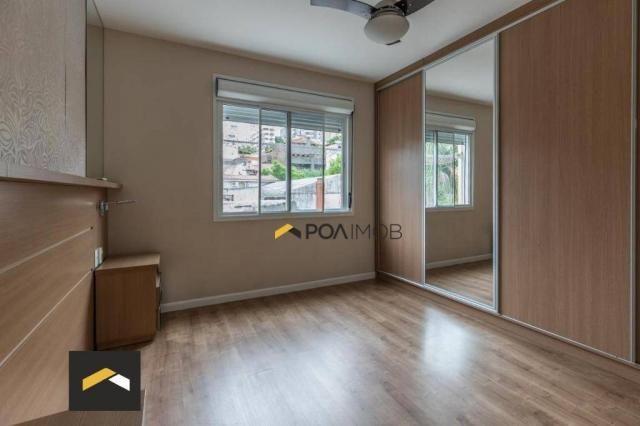 Apartamento com 3 dormitórios para alugar, 96 m² por R$ 3.600,00/mês - Petrópolis - Porto  - Foto 14