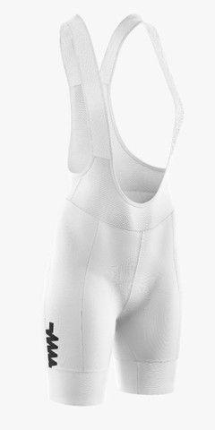 Conjunto ciclismo branco masculino bretelle + camisa  - Foto 3