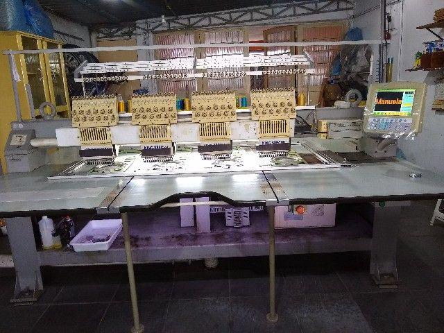 máquina de bordar(2) King Special 4 cabeças 12 cores - Foto 2