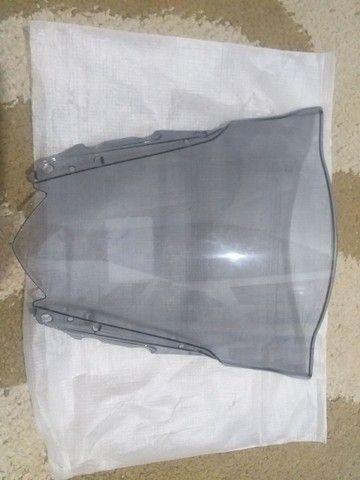 Bolha Parabrisa Fume Claro Yamaha Yzfr3 15 16 17 18 19 - Foto 3