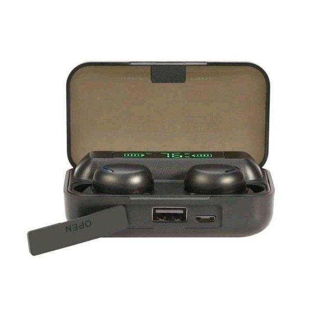 Fone de ouvido tws bth-f9-5, com microfone para chamadas, conexão Bluetooth,  - Foto 2