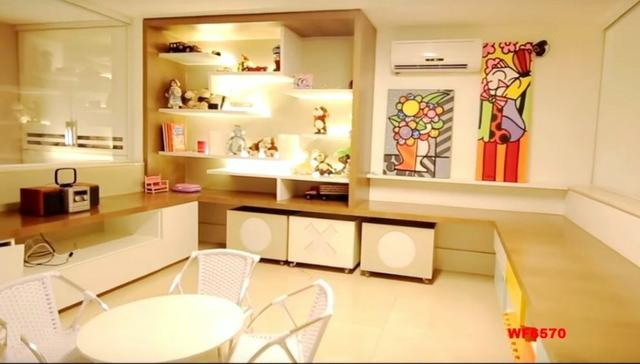 Mansão em Fortaleza, casa duplex nas Dunas, 4 suítes, gabinete, bairro de Lourdes - Foto 9