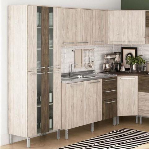 Cozinha de Canto 7 peças Monto e Instalo - Foto 2