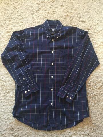 4a305b2e858e3 Camisa Social Xadrez Azul Polo Club Tamanho P (37 38) Impecável Zerada  Importada