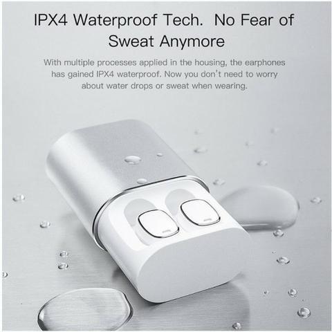 Fone de ouvido Bluetooth Earphone QCY-T1 Pro branco - Foto 3