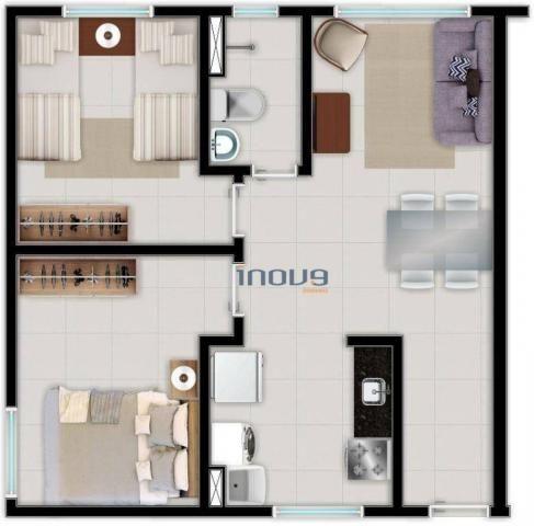 Apartamento com 2 dormitórios à venda, 44 m² por R$ 124.990,00 - Centro - Caucaia/CE - Foto 11