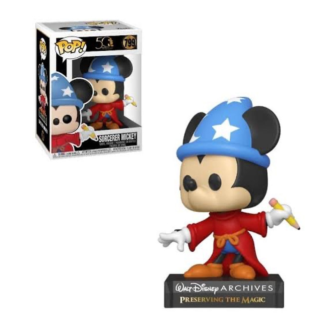 Funko Pop! Disney Archives 50 th: Sorcerer Mickey (Mickey Feiticeiro) #799