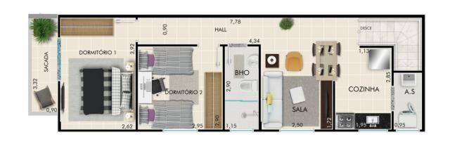 Casa pronta para morar - 2 quartos - no bairro Vila Sônia - Praia Grande, SP - Foto 19