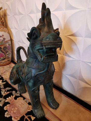 Dragão chinês todo em bronze - Foto 2