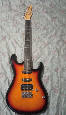 Guitarra Menphis By Tagima MG 260 Sunburst + Case ESP - Foto 2