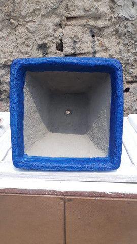 Vaso de cimento decorado - Foto 2