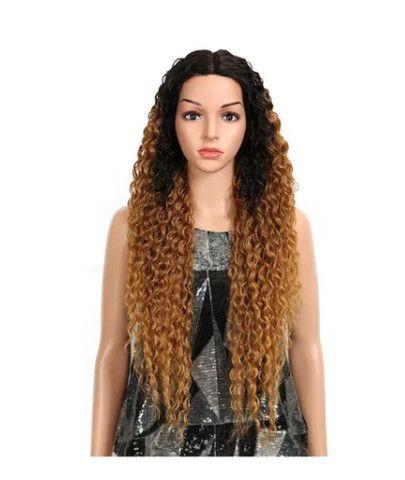 Peruca Lace Front Cacheada Ombre Hair Longo - Foto 2