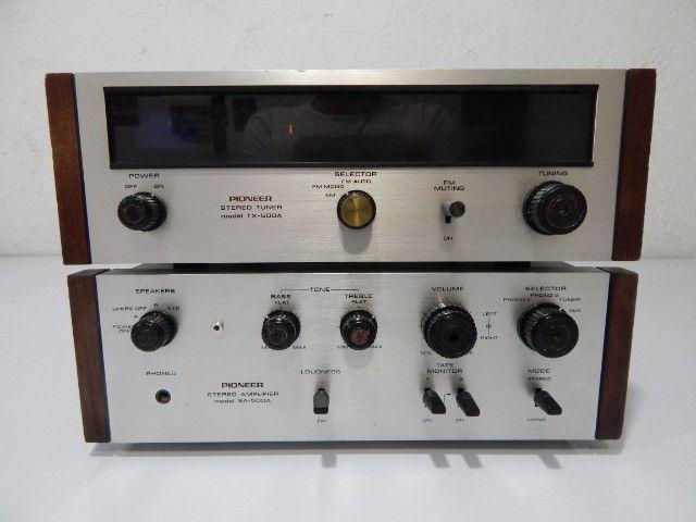 Amplificador e tuner pioneer som antigo anos 70