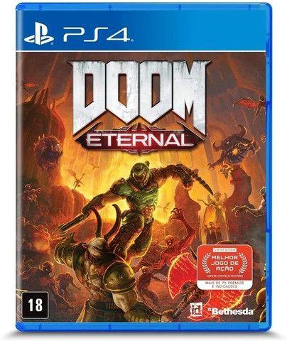 Jogo Doom Eternal Ps4 Mídia Física