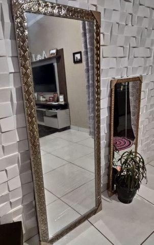 ESPELHO GRANDE ( Com Molduras em Madeira ) De parede, a pronta entrega - Foto 5